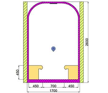 Проект хамама под ключ 1,5м2 разрез 1 фото