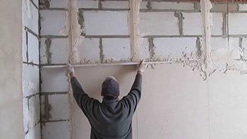 Выравнивание стен в бане фото