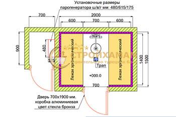 Проект хамама 2,8 м2 под ключ фото