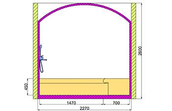 Проект хамама под ключ 3,96 м2 разрез 3 фото