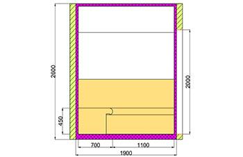 Проект хамама под ключ 4,5м2 разрез 4 фото