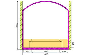 Проект хамама под ключ 6,24м2 разрез 1 фото
