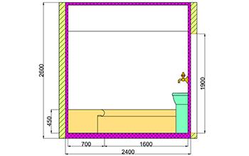 Проект хамама под ключ 6,24м2 разрез 4 фото