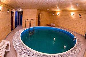 Баня с бассейном под ключ фото