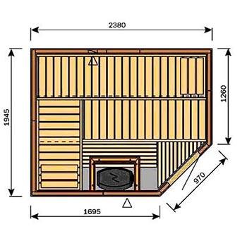 Компактная сауна для квартиры фото
