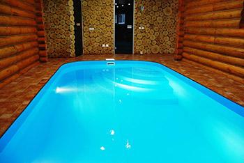 Большая баня с бассейном проект фото