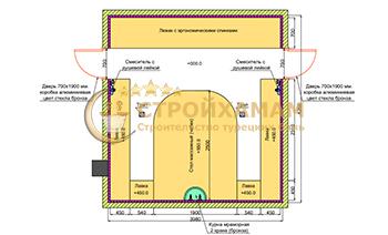 Проект хамама 4,2 на 3,9 (16,3м2) фото